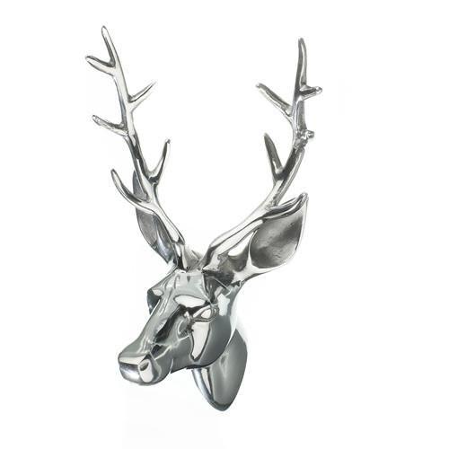 Aluminium Stags Head Wall Mounted Plaque Deer Metal