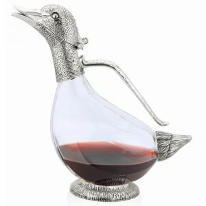 Duck Decanter Silver Plated